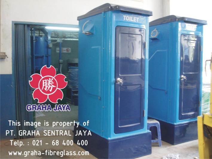 Portable Toilet Fiberglass - Tipe C