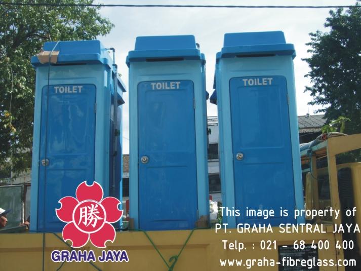 Portable Toilet Fiberglass - Tipe B