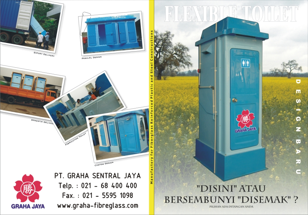 Portable Toilet Exhibition : Toilet portable fibreglass graha jaya fiberglass indonesia