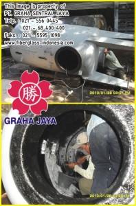 pelapisan fiberglass tangki pressure