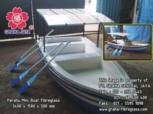 Perahu Dayung Mini Boat Fibreglass